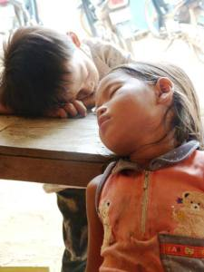 children asleep