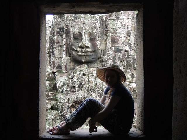 In the shadow of an ancient smiling face